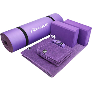 REEHUT Yoga Set 6-Piece - Includes 1/2