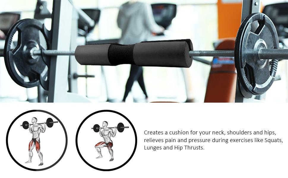 Nacken und Schulterschutzpolster benutzt f/ür Hocken Ges/äss Thrusting Odoukey Barbell Squat Pad