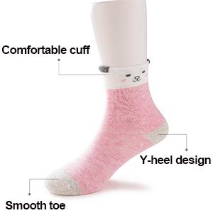girls seamless crew socks