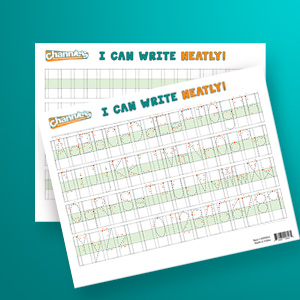 Two quality plastic practice sheets can be used again and again saving natural resources and money