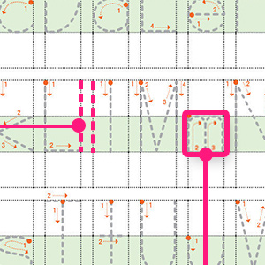 From the very start, the grid lines show proper spacing, letter size and punctuation