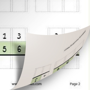 Thicker paper allows both sides of the page to be written on and used for even more practice.