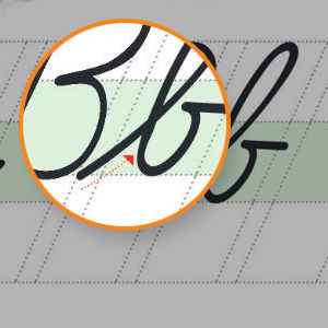 Grid lines guide children to proper angle, spacing, letter size and punctuation.