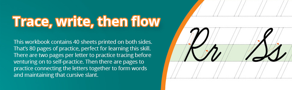 There are two pages per letter to practice tracing before venturing on to self-practice