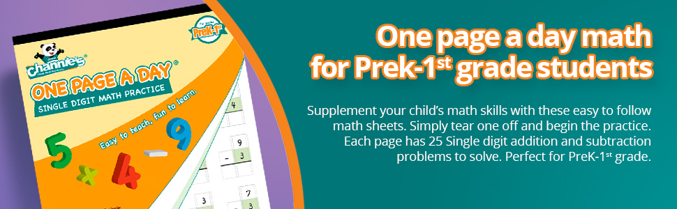 Each page has 25 Single digit addition and subtraction problems to solve. Perfect for PreK-1st grade