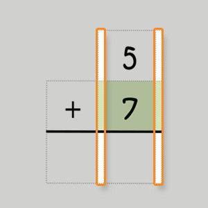 need to be lined up correctly and the grid boxes help children keep numbers in the right columns