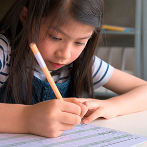 Simple design keeps kids focused on writing without too many other distractions on a page
