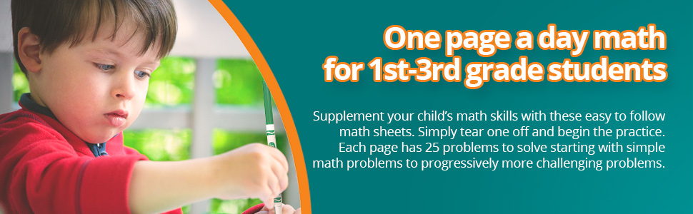 Supplement your child's math skills with these easy to follow math sheets.