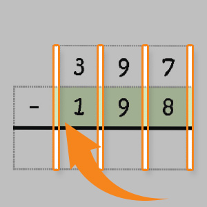 need to be lined up correctly and the grid boxes help children to keep the numbers organized
