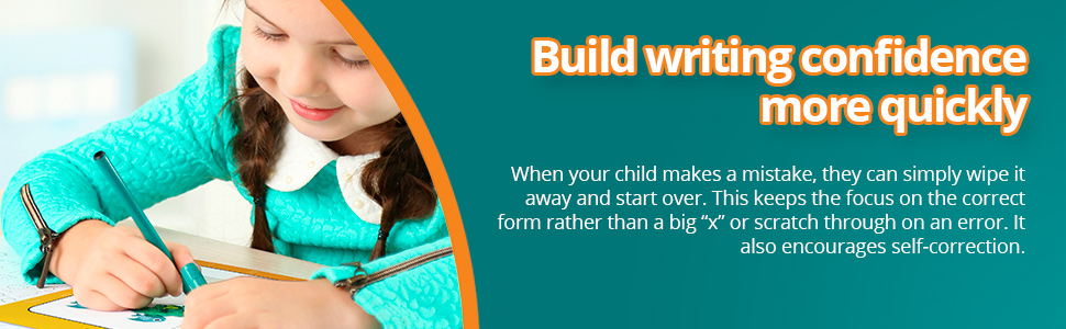 When your child makes a mistake, they can simply wipe it away and start over