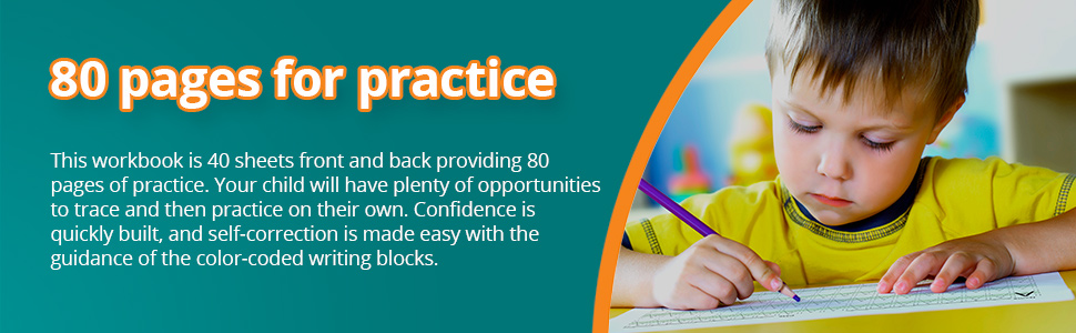 Confidence is quickly built, and self-correction is made easy with the color-coded writing blocks.