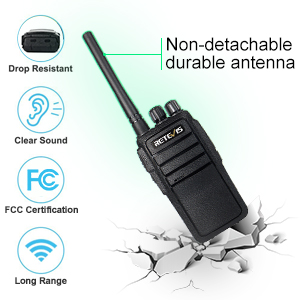 Retevis RT21 Two Way Radios Long Range FRS Walkie Talkies Rechargeable Hands Free 2 Way Radios with Six-Way Multi Gang Charger FA9118CX3-C9059B 6 Pack