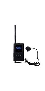 Black Retekess TR101 Walkman Headphone Radio FM Stereo Headset Radio Receiver Digital FM Hearing Protector Earmuff Support AUX Input Battery Powered