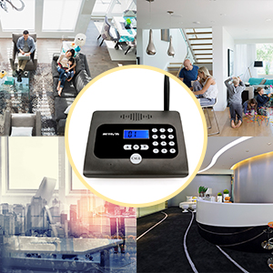 Retevis RT57 Wireless Intercom System Full Duplex No Delay Communication Caller ID Long Range Intercom Baby Elderly Monitor for Home Care and Office Communication FA9156A Black 1 Pack