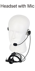 USC9007A Retevis 2 Pin Throat Mic Covert Acoustic Tube Earpiece with PTT Compatible Kenwood Radios Baofeng UV-5R BF-888S Retevis H-777 RT22 RT21 RT7 RT27 TYT Walkie Talkies 1 Pack
