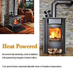 Buy 4-Blade Heat Powered Stove Fan for Wood / Log Burner/Fireplace increases 80% more warm air than 2 blade fan- Eco Friendly: Fireplace Fans - Amazon.com ? FREE DELIVERY possible on eligible purchases