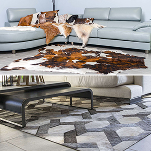 Amazon Com Cowhide Rug Dark Brindle Medium 5x7