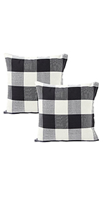 24 x 24 pillow covers red check pillow covers linen cushion cases red pillow covers throw pillows