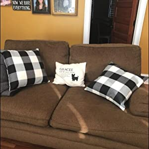 buffalo checkbuffalo pillow country style sofas decor buffalo plaid pillow set of sofa throw pillows