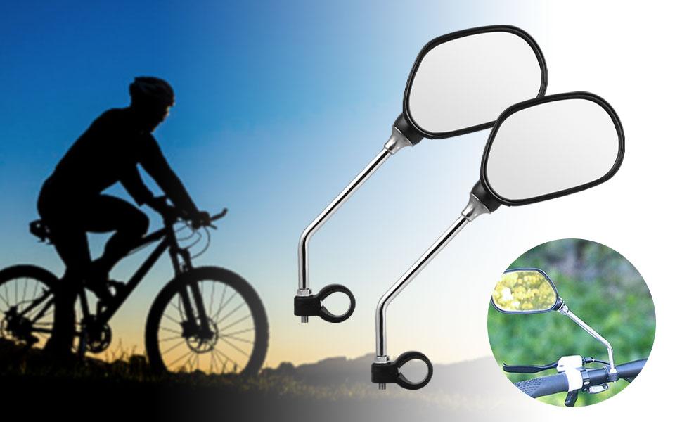 Bike Mirror Handlebar Mount for MTB Road Folding Bike 1 Pair Adjustable Wide Angle Bicycle Cycling Rear View Mirror EEEKit Bike Mirror
