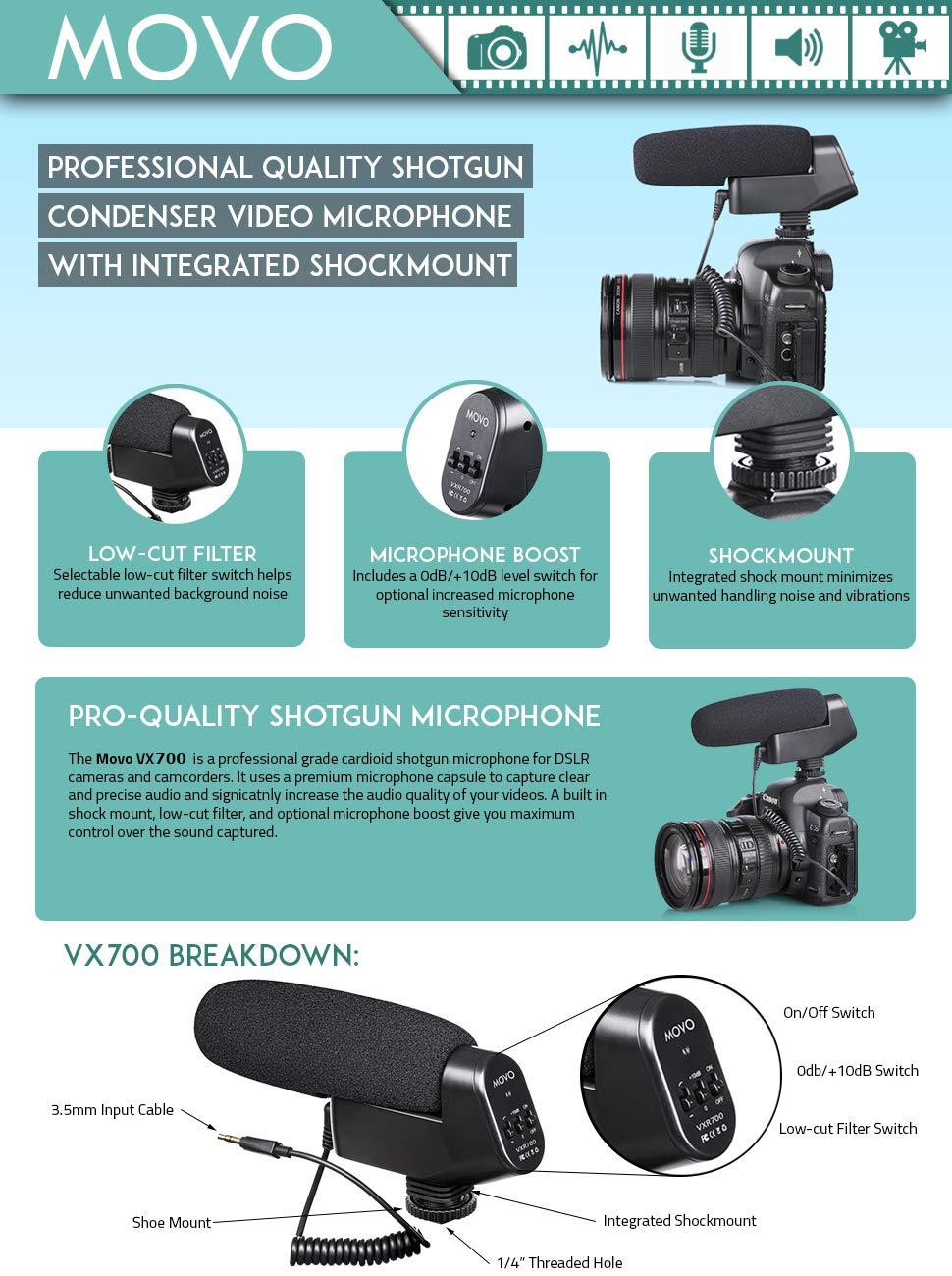shotgun microphone on camera dslr directional mount audio pickup cardioid condenser mic