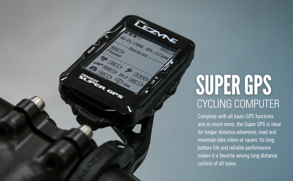 Gps Bike Computer >> Amazon Com Lezyne Enhanced Super Gps Cycling Computer