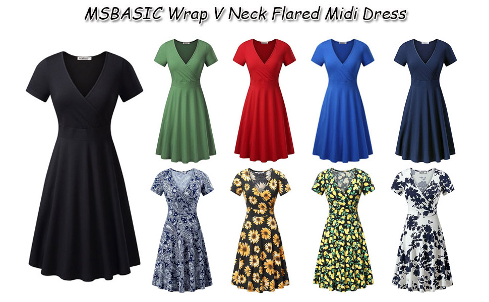 4f2a3ce29c0a MSBASIC Women'S Deep V Neck Short Sleeve Unique Cross Wrap Casual ...