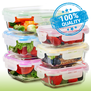 glass food storage containers meel preep fresh home kitchen
