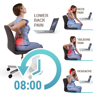 Seat Cushion For Back Pain >> Seat Cushion Pillow For Office Chair 100 Memory Foam Soft Coccyx Pad Tailbone Sciatica Lower Back Pain Relief Contoured Posture Corrector For