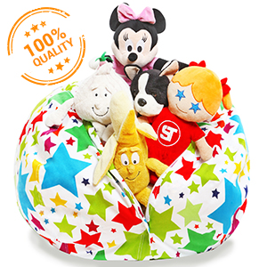 Terrific Stuffed Animal Storage Bean Bag Cover Only Large Beanbag Chairs For Kids 90 Plush Toys Holder And Organizer For Boys And Girls 100 Cotton Dailytribune Chair Design For Home Dailytribuneorg