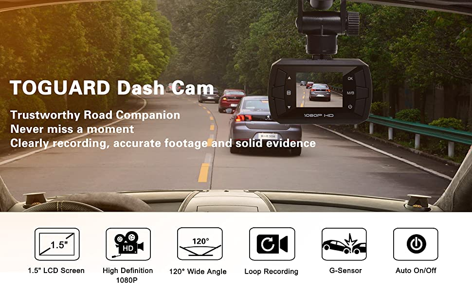 toguard mini dashboard camera car driving recorder full hd 1080p dash cam motion. Black Bedroom Furniture Sets. Home Design Ideas