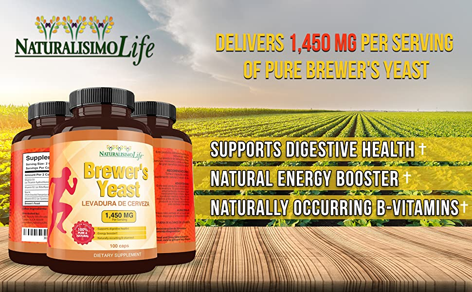 Brewers yeast 1,450 mg per serving