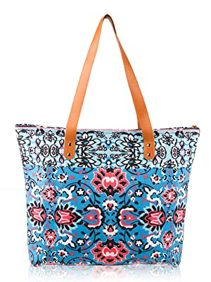 72956890a0bd5c Tote Bag Floral Canvas Shopping Bag for School, Work, Shopping ...