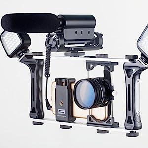 dreamgrip,smartphone video rig, camera grip,universal rig,smartphone lens adapter,evolution mojo