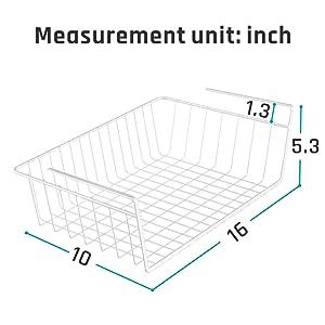 under shelf wire basket