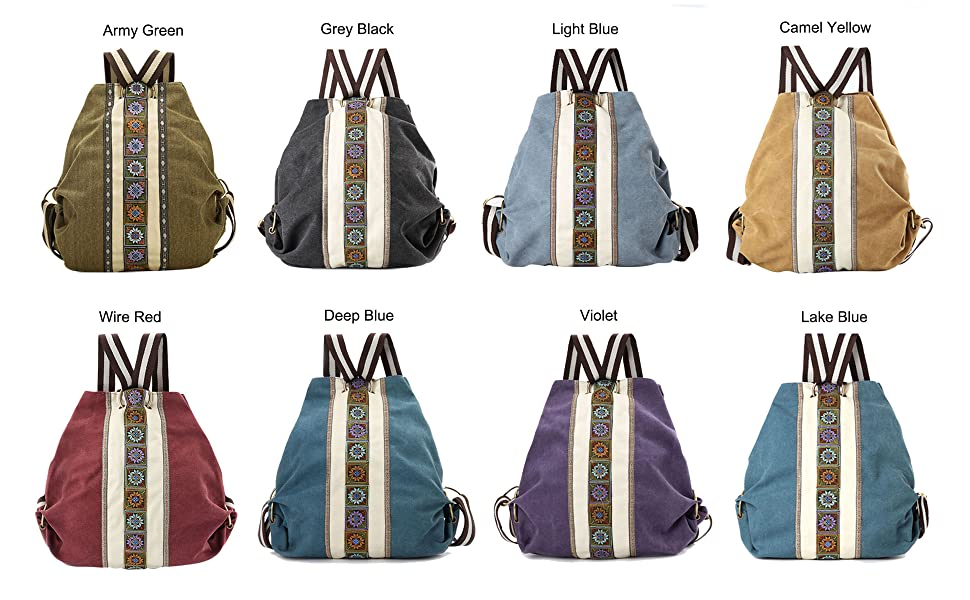 Canvas Backpack purse for women girls