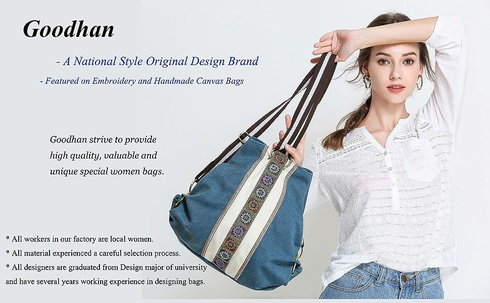 Goodhan women's backpack purse Model Poster