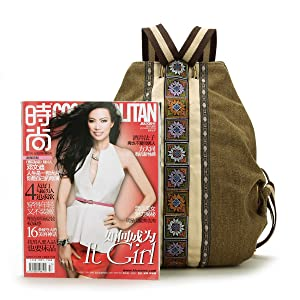 women backpack Purse size compare with Magazine