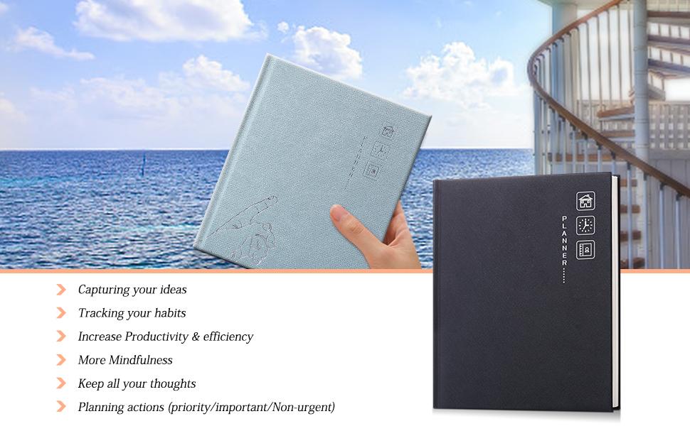 Amazon.com: Planificador Neustern, de piel dura, semanal ...