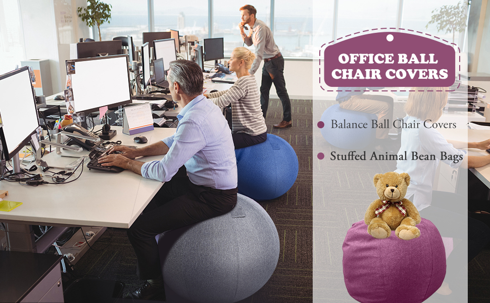 Awe Inspiring Stuffed Animal Storage Bean Bag Chair Balance Ball Cover Sitting Ball Chair Cover For Yoga Office Pabps2019 Chair Design Images Pabps2019Com