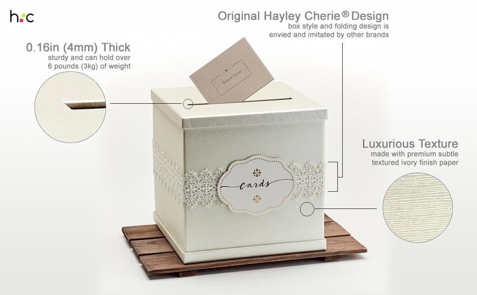ivory wedding card gift box