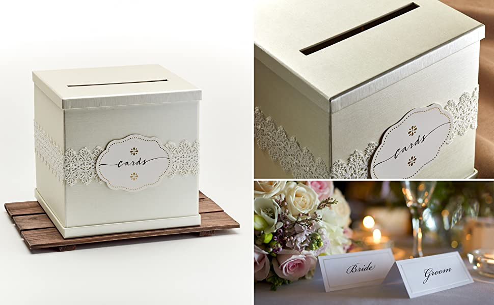 hayley cherie gift card box ivory