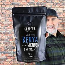 kenya ground coffee beans whole bean