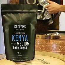 Kenya single origin coopers cask coffee premium coffee beans