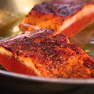 Etta's Salmon Recipe Rub with Love herb brown sugar fish wild caught stove top