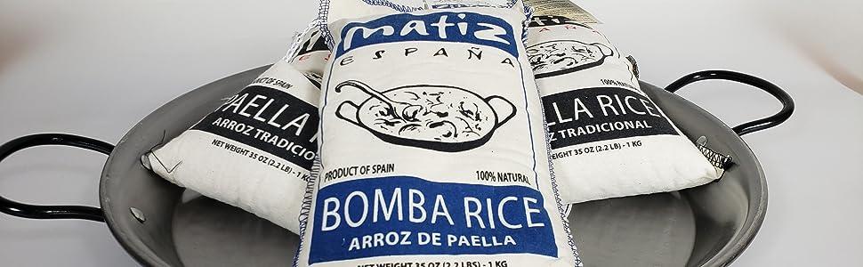 Matiz Valenciano Premium Bomba Paella Arroz 2.2lbs: Amazon ...