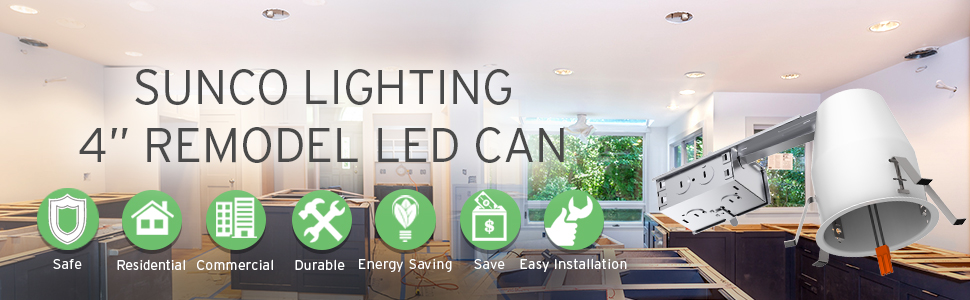 4 inch remodel led can