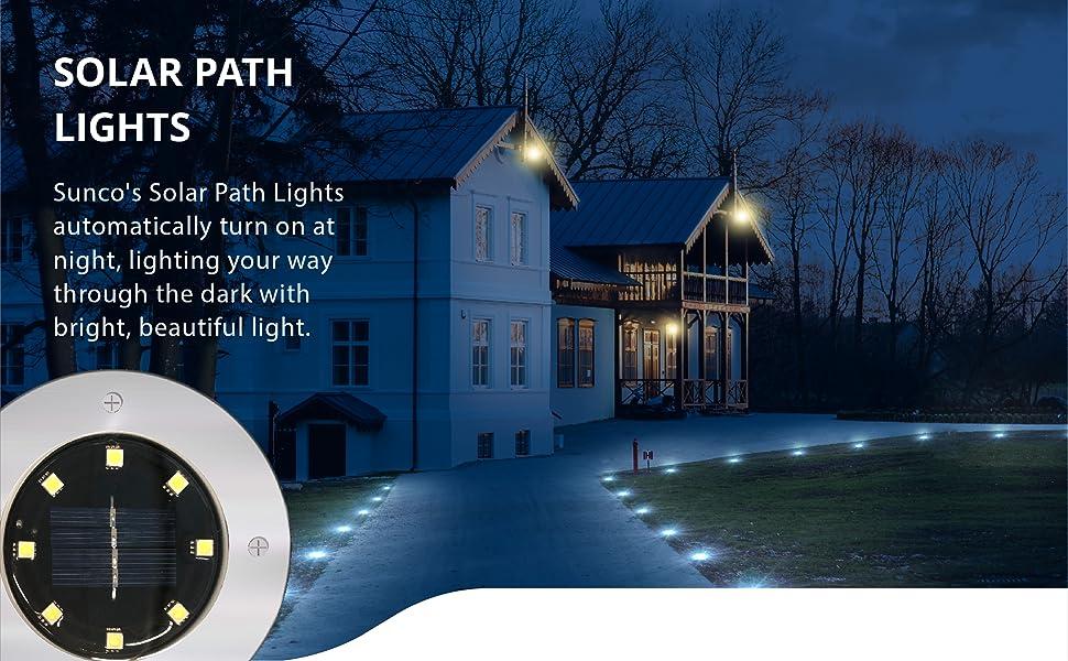 Sunco Lighting LED Solar Path Lights