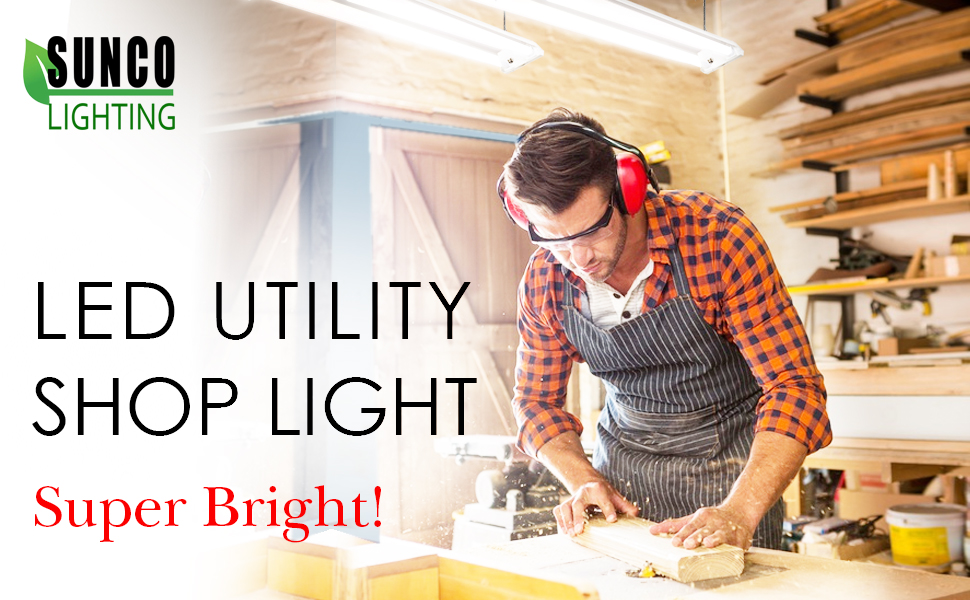 Sunco Lighting LED Utility Shop Light  sc 1 st  Amazon.com & Sunco Lighting 6 PACK - ENERGY STAR ETL - 4ft 40W LED Utility ... azcodes.com
