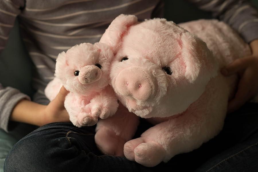 exceptional home pigs plush stuffed animals set 18 pig baby piglet kids toys. Black Bedroom Furniture Sets. Home Design Ideas